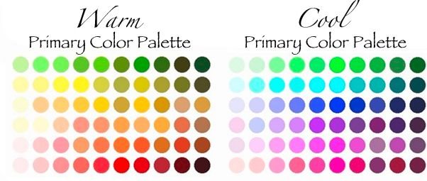 Warm Cool Palettes